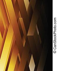 résumé, jaune, lignes, géométrique, fond
