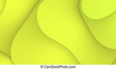 résumé, jaune, mouvement, 4k, fond, vagues, boucle