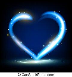 résumé, laser, coeur, fond