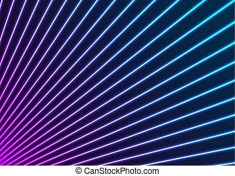 résumé, laser, fond, rayons, pourpre, bleu, néon