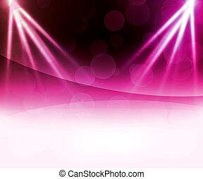 résumé, laser, fond, violet