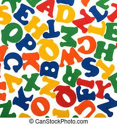 résumé, lettres, coloré