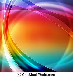 résumé, lignes, coloré, fond