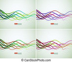 résumé, lignes, coloré
