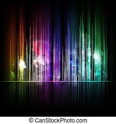 résumé, lignes, fond, multicolore