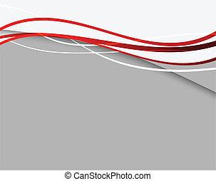 résumé, lignes, fond, rouges
