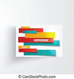 résumé, lignes, vecteur, brochure, carte, design.