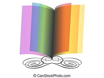 résumé, livre, ouvert