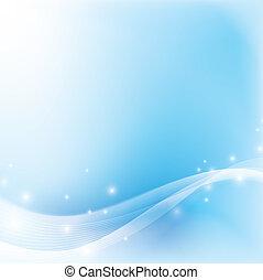 résumé, lumière, doux, arrière-plan bleu