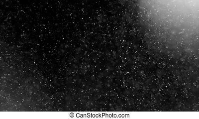 résumé, lumière, et, poussière, particules