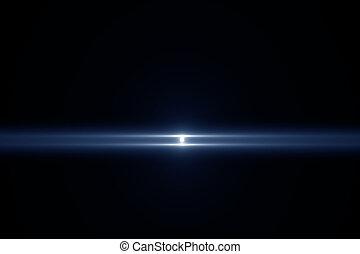 résumé, lumière, sur, arrière-plan noir
