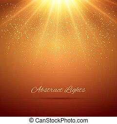 résumé, lumières, fond