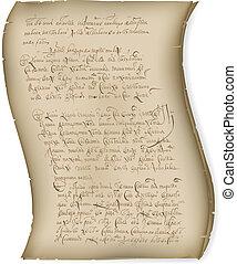 résumé, manuscrit