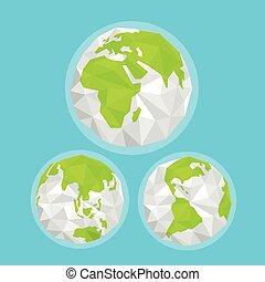 résumé, map., infographic, gabarit, la terre, mondiale