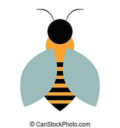 résumé, mignon, abeille