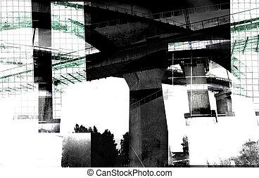 résumé, moderne, -, architecture, composition