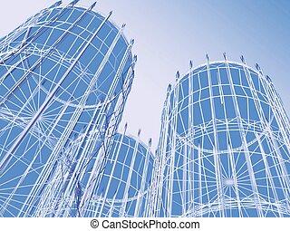 résumé, moderne,  architecture