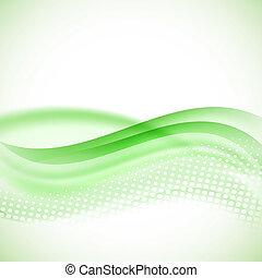 résumé, moderne, arrière-plan vert, halftone