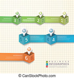 résumé, moderne, papier, emplacement, marque, infographic, éléments
