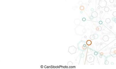résumé, moléculaire, fond, structure