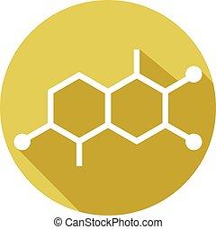résumé, moléculaire, structures, icône