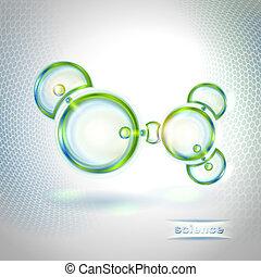 résumé, molécule, fond