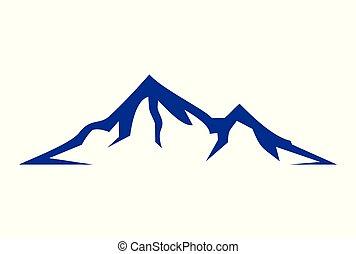 résumé, montagne, logo, dsign
