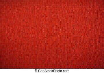résumé, mosaïque, bloc, rouges