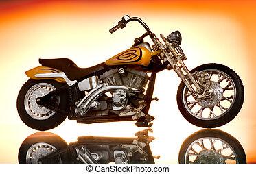 résumé, motocyclette, fond