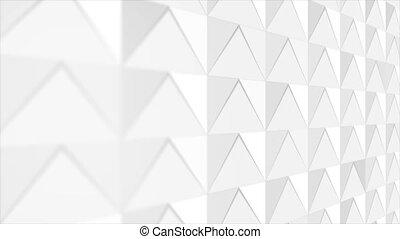 résumé, mouvement, gris, technologie, mosaïque, fond blanc, polygonal