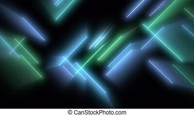 résumé, mouvement, néon, lignes, fond, coloré