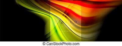 résumé, multicolore, couleurs, technologie, conception, arc-en-ciel, business, texture, plastique, fond, gabarit, présentation, coloré, toile, formes, papier peint, fluide, ondulé, brochure, liquide, couverture, ou, marbre