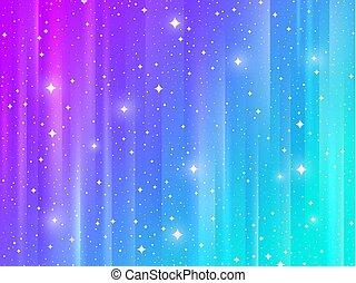 résumé, multicolore, stars., fond, rayé, briller