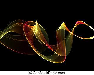 résumé, multicolore, vagues