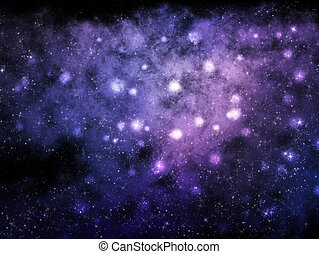 résumé, nébuleuse, fond, étoiles, espace
