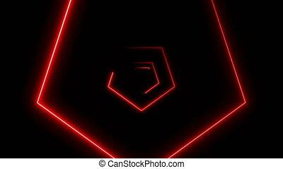 résumé, néon, polygones, fond