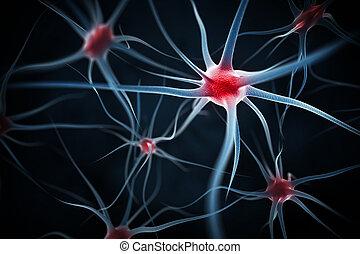 résumé, neurons, fond