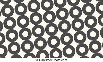résumé, noir, cercles, intro, blanc, géométrique, mouvement, fond