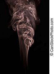 résumé, noir, isolé, fumée