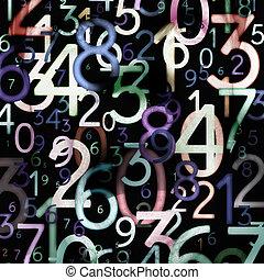 résumé, nombres, coloré