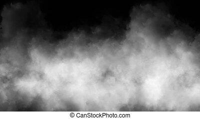 résumé, nuages, 4k, fumée