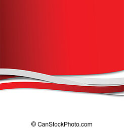 résumé, ondulé, arrière-plan rouge