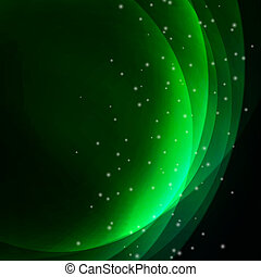 résumé, ondulé, arrière-plan vert