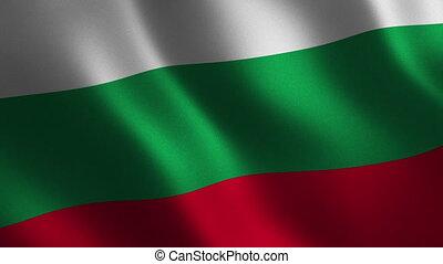 résumé, onduler, arrière-plan., drapeau, 3d., animation., boucle, bulgarie