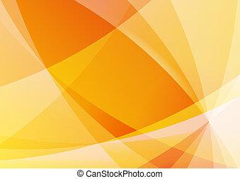 résumé, orange, et, fond jaune, papier peint