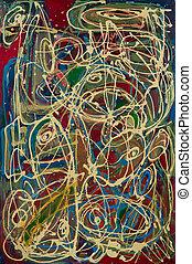 résumé, painting:, expressionnisme abstrait, reflux