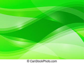 résumé, papier peint, arrière-plan vert