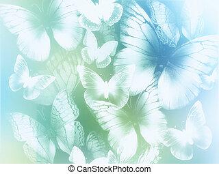 résumé, papillons, fond