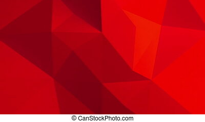 résumé, pattern., polygonal, fond, rouges, 3d