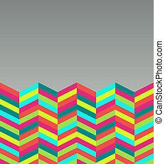 résumé, pattern., retro, coloré, seamless